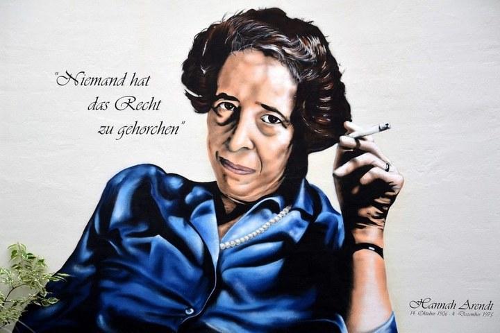 Filosofisch café, de Joodse filosofe Hannah Arendt